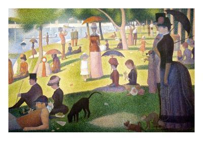 A Sunday on La Grande Jatte 1884, 1884-86-Georges Seurat-Art Print