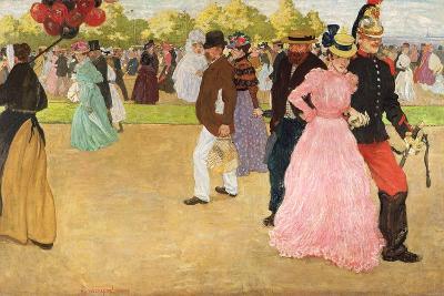 A Sunday Walk in the Bois De Boulogne, 1899-Henri Jacques Edouard Evenepoel-Giclee Print
