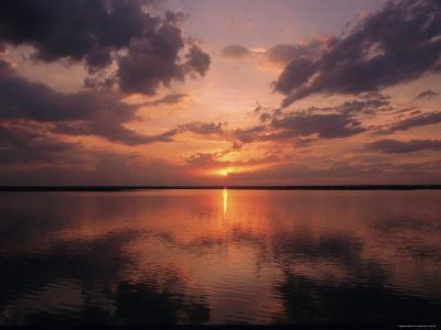 A Sunset in Los Llanos, Venezuela-Ed George-Photographic Print
