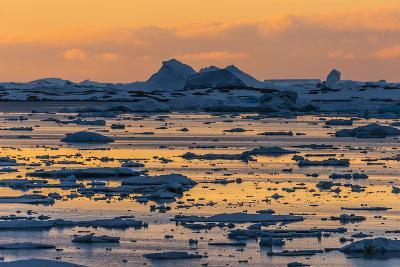 A Sunset over Grandidier Channel, Antarctica-Ralph Lee Hopkins-Photographic Print