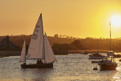 A Sunset View of Sailing on the River Exe at Topsham, Near Exeter, Devon, England, United Kingdom-Nigel Hicks-Photographic Print