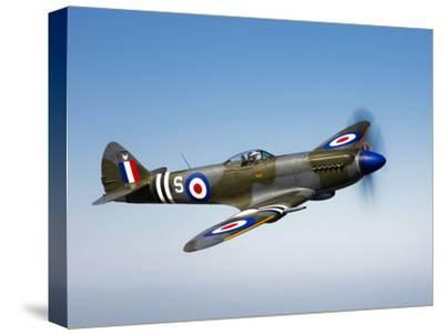 A Supermarine Spitfire MK-18 in Flight-Stocktrek Images-Stretched Canvas Print