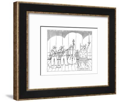 A Surprise Guest. - New Yorker Cartoon-Jack Ziegler-Framed Premium Giclee Print