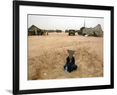 A Suspected Muqtada Al-Sadr Follower at an Us Army Base Outside Najaf--Framed Photographic Print