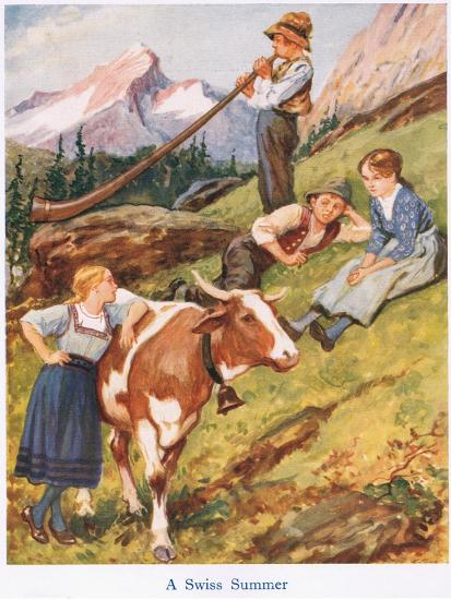 A Swiss Summer-Gordon Frederick Browne-Giclee Print