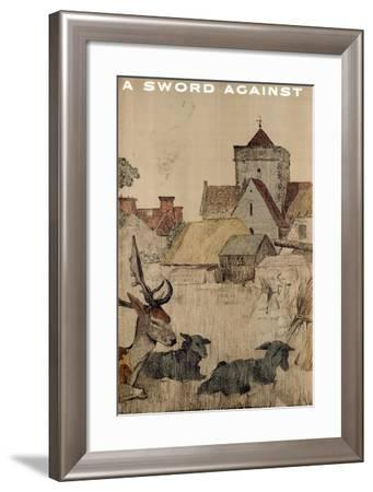 A Sword Against, from the Series 'The Empire Stands for Peace'--Framed Giclee Print