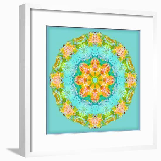 A Symmetric Floral Montage-Alaya Gadeh-Framed Photographic Print