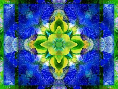 A Symmetric Ornament from Flower Photographs, Conceptual Layer Work-Alaya Gadeh-Photographic Print