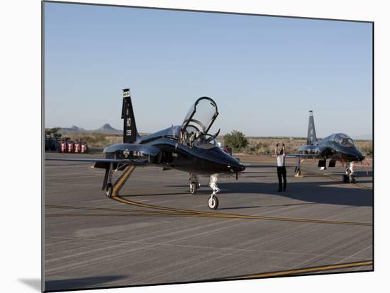A T-38 Pilot Prepares To Taxi His Aircraft For a Training Mission-Stocktrek Images-Mounted Photographic Print