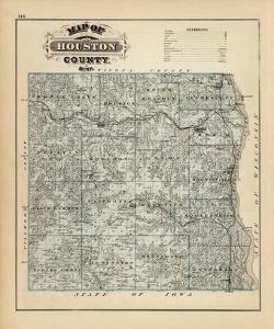 Map of Houston County, Minnesota, c.1874 by A. T. Andreas