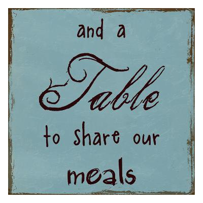 A Table To Share Our Meals-Sheldon Lewis-Art Print