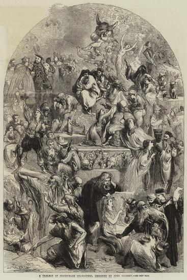 A Tableau of Shakespeare Characters-Sir John Gilbert-Giclee Print