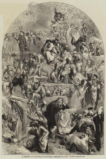 A Tableau of Shakespeare Characters Giclee Print by Sir John Gilbert |  Art com