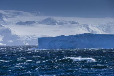 A Tabular Iceberg Near Cuverville Island, Antarctica-Ralph Lee Hopkins-Photographic Print