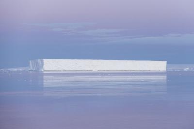 A Tabular Iceberg under the Midnight Sun of the Antarctic Summer in the Weddell Sea-Jeff Mauritzen-Photographic Print