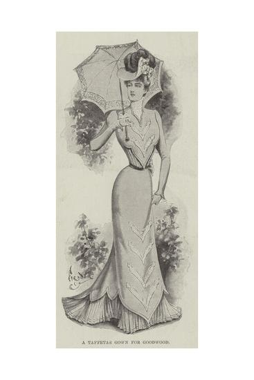 A Taffetas Gown for Goodwood--Giclee Print