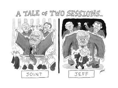 A Tale of Two Sessions... - Cartoon-Tom Toro-Premium Giclee Print
