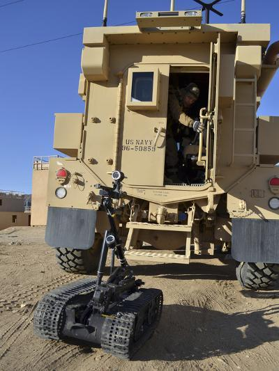 A Talon Mark 2 Bomb Disposal Robot Is Deployed from a Rapid Response Vehicle-Stocktrek Images-Photographic Print