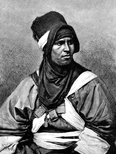 A Targui Man, 1895-Henri Thiriat-Giclee Print