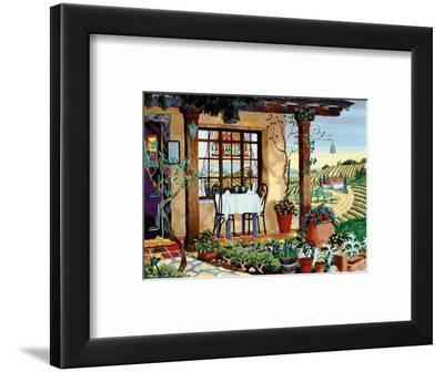 A Taste of Wine Country - Tuscany Italy - Italian Villa, Vineyards-Robin Wethe Altman-Framed Art Print