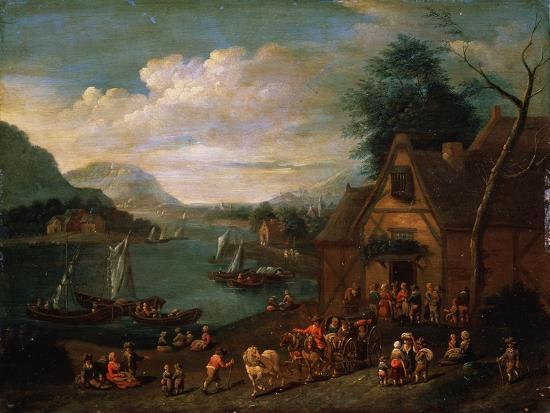 A Tavern at the Seashore, C16th-C18th Century--Giclee Print
