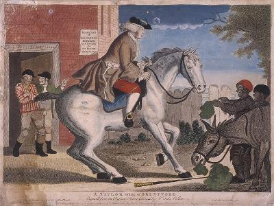 A Taylor Riding to Brentford, 1786-TS Stayner-Giclee Print