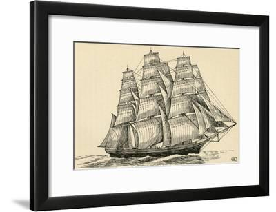 'A Tea Clipper', (1931)-Charles Henry Bourne Quennell-Framed Giclee Print