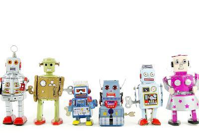 A Team of Robot Toys-davinci-Art Print