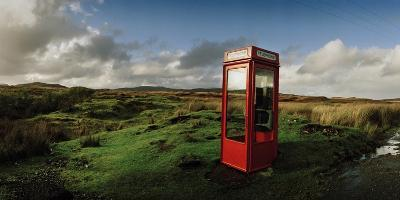 A Telephone Booth Standing Alone on a Remote Moor-Macduff Everton-Photographic Print