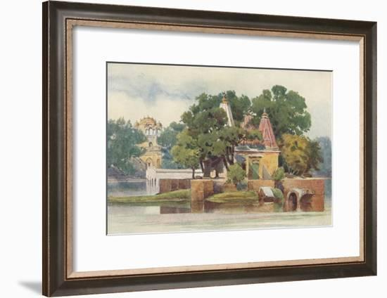 'A Temple in the Tank at Thanesar', c1880 (1905)-Alexander Henry Hallam Murray-Framed Giclee Print