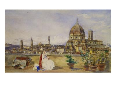 A Terrace Overlooking Florence from the Via Di Servi-Thomas Hartley Cromek-Giclee Print