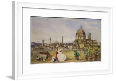 A Terrace Overlooking Florence from the Via Di Servi-Thomas Hartley Cromek-Framed Giclee Print