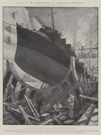 A Test of the Seaworthiness of Torpedo-Boat Destroyers-Fred T. Jane-Giclee Print