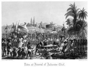 Rites at Funeral of Ashantee Chief by A Thom