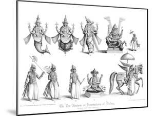 The Ten Abatars or Incarnations of Vishnu by A Thom