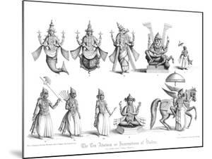 The Ten Abatars or Incarnations of Vishnu by A Thom