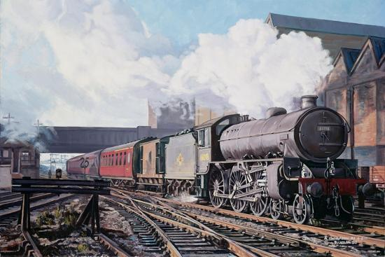 A 'Thompson' B1 Class Moving Empty Stock on a Cold February Morning, 1998-David Nolan-Giclee Print