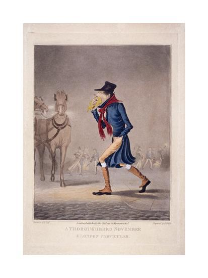 A Thoroughbred November and London Particular, 1827-George Hunt-Giclee Print