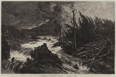 A Thunderstorm in the Bavarian Mountains-August Albert Zimmermann-Giclee Print