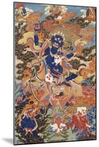 A Tibetan Thang.ka Depicting Bse'i.Khrab.Can on His Horse, circa 1900