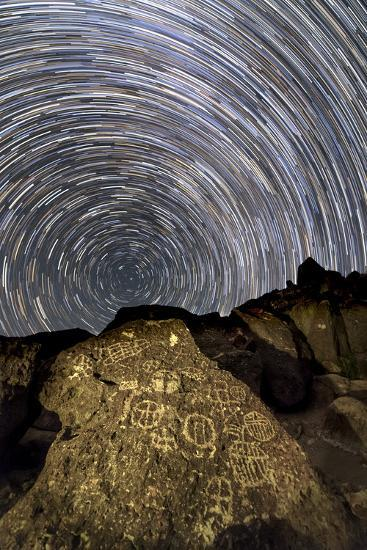A Time-Exposure Image of Star Trails Shows the Sky Rotation around the North Pole-Babak Tafreshi-Photographic Print