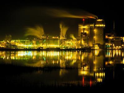 A Time Exposure, Taken at Night, of the Mill and the River-Raymond Gehman-Photographic Print