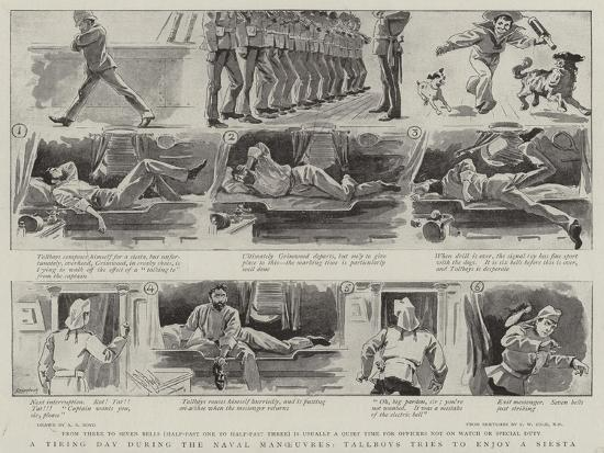 A Tiring Day During the Naval Manoeuvres, Tallboys Tries to Enjoy a Siesta-Alexander Stuart Boyd-Giclee Print