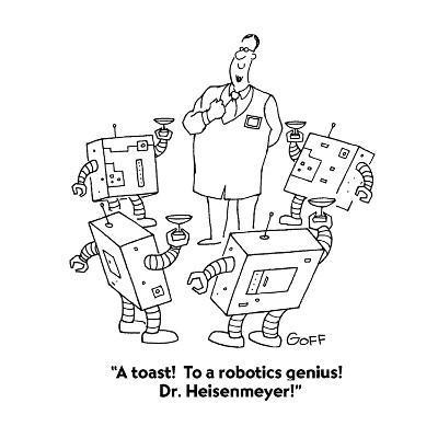 A Toast To A Robotics Genius Dr Heisenmeyer Cartoon Premium