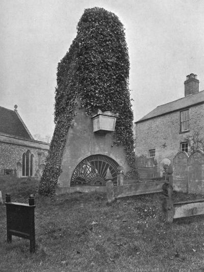 A Tomb Above Ground, Pinner Churchyard, London, 1924-1926-Valentine & Sons-Giclee Print
