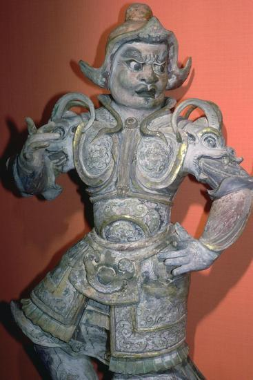 A tomb guardian or lokopala, protector of the dead, Tang dynasty, China, 618-906. Artist: Unknown-Unknown-Giclee Print