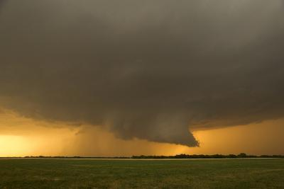 A Tornado-Warned Supercell Thunderstorm Produces a Well-Defined Wall Cloud over a Farm Field-Jim Reed-Photographic Print