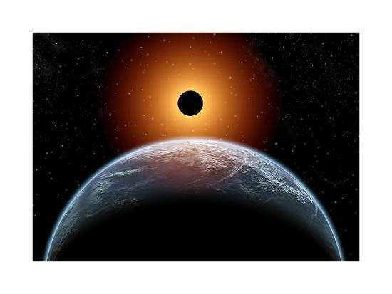 A Total Eclipse of the Sun as Seen from Being in Earth's Orbit--Art Print