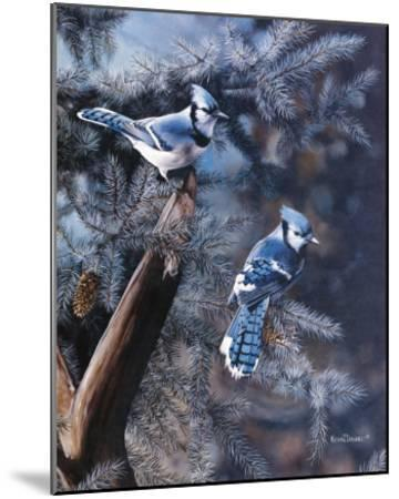 A Touch of Blue-Kevin Daniel-Mounted Art Print