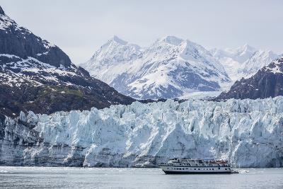 A Tourist Ship Explores the Lamplugh Glacier in Glacier Bay National Park and Preserve, Alaska-Michael Nolan-Photographic Print